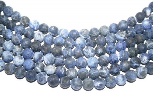 Sodalite Matte Round Beads 8mm - 46pcs