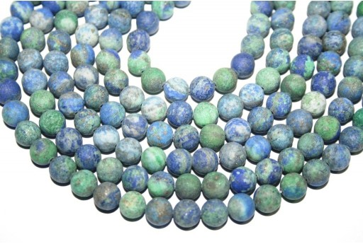 Chrysocolla Matte Round Beads 8mm - 48pcs