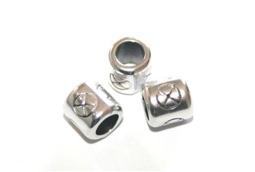 Passante Tubo - Argento 8x8mm - 2pz