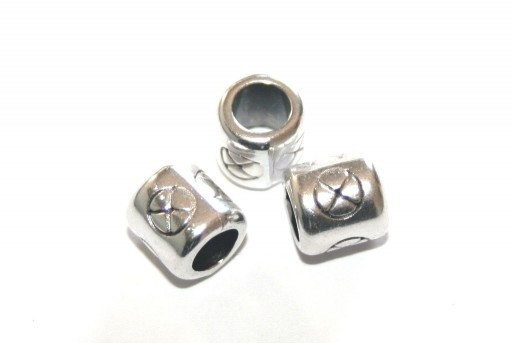 Zamak Slider Tube - Silver 8x8mm - 2pcs