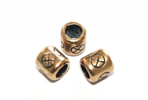 Zamak Slider Tube - Brass Antique 8x8mm - 2pcs