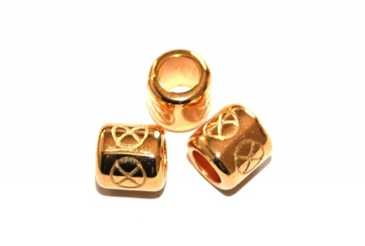 Zamak Slider Tube - Gold 8x8mm - 2pcs