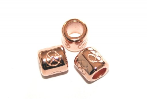 Zamak Slider Tube - Rose Gold 8x8mm - 2pcs