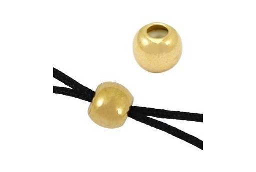 Findings Bead Macrame Clasp - Gold 5mm - 2pcs