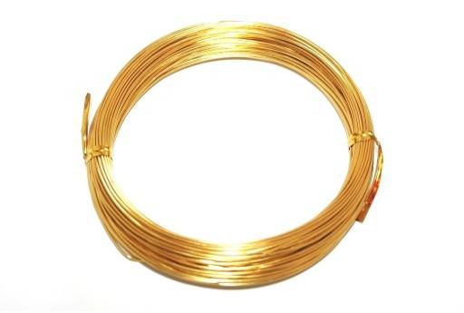 Filo di Alluminio Oro 0,8mm - 20mt