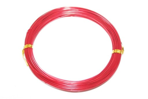 Aluminium Wire Red 0,8mm - 20m