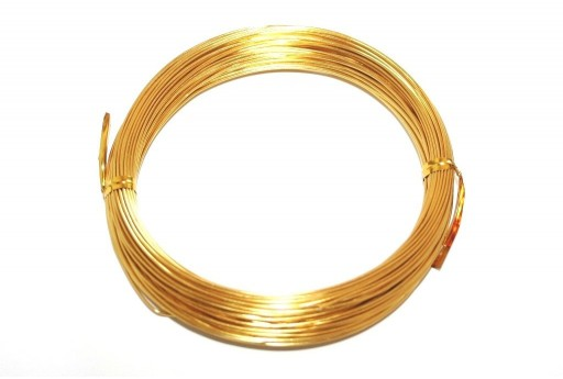 Aluminium Wire Gold 1mm - 20m