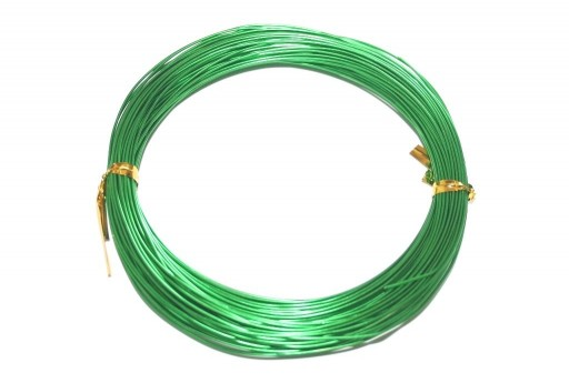 Aluminium Wire Green 1mm - 20m