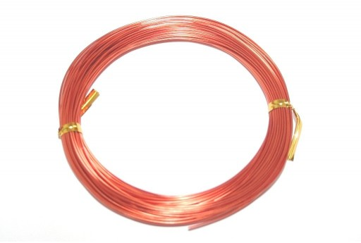Aluminium Wire Dark Orange 1mm - 20m