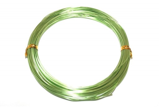 Aluminium Wire Light Green 1mm - 20m
