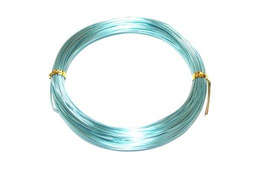 Filo di Alluminio Celeste Aqua 1mm - 20mt