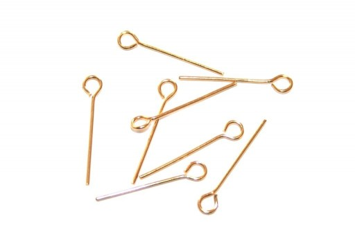 Steel Eyepins Gold 0,7X20mm - 20pcs