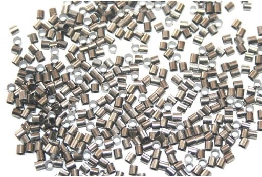Gunmetal Plated Crimp Tubes 2x2mm - 120pcs