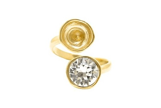 Adjustable Gold Plated Ring Setting for 2 1088 SS39 - 1pcs