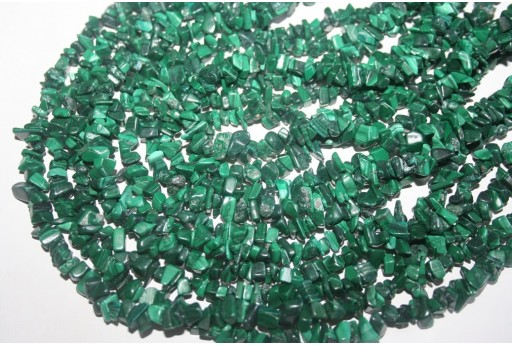 Filo 200 Pietre Malachite Chips 5x8mm MAL3