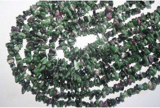 Zoisite Beads Ruby Chips 5x8mm - 220pz