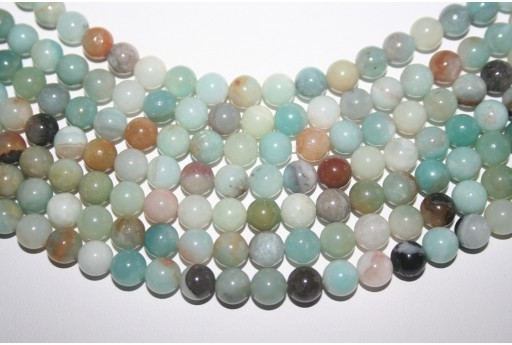 Amazonite Beads Multicolor Sphere 8mm - 48pz