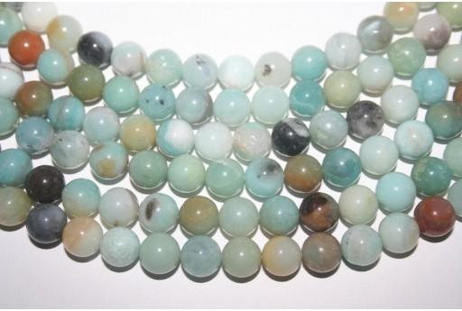 Amazonite Beads Multicolor Sphere 10mm - 36pcs