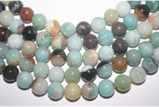 Amazonite Beads Multicolor Sphere 12mm - 32pz