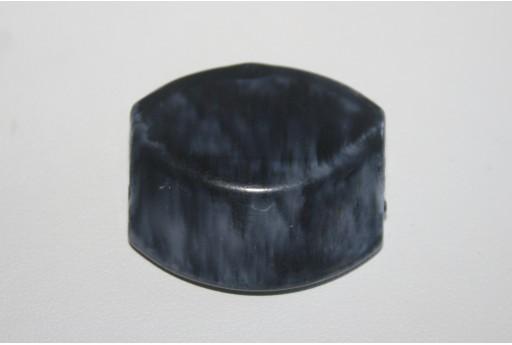 4 Perle Acrilico Blue Sfumato Rettangolo Sfaccettato 30x28mm AC1D
