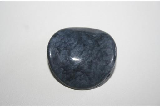 Perle Acrilico Blue Sfumato Pasticca Twist 35mm - 3pz