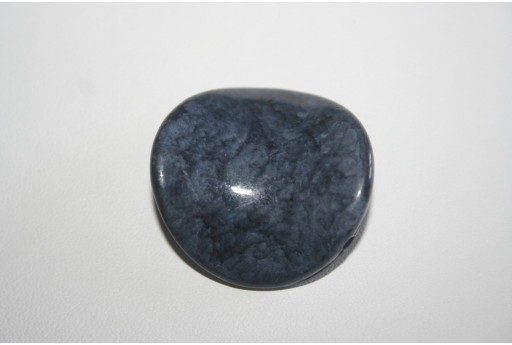 Acrylic Beads Shaded Blue Pastille Twist 35mm - 3pz