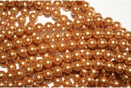 Swarovski Pearls 5810 Crystal Bright Gold 6mm - 12pcs