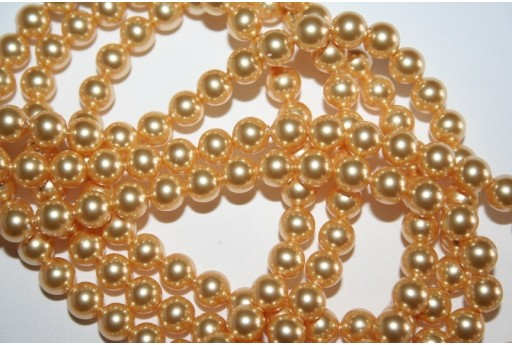 Swarovski Pearls 5810 Crystal Gold 6mm - 12pcs