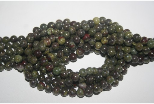 Bloodstone Beads Sphere 6mm - 64pz