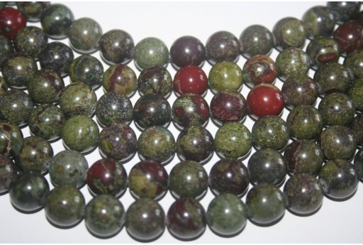 Bloodstone Beads Sphere 12mm - 32pz