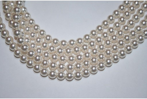 Swarovski Pearls 5810 Crystal White 6mm - 12pcs