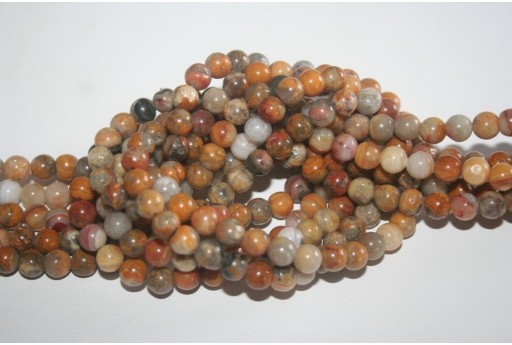 Crazy Lace Agate Beads Sphere 6mm - 64pz