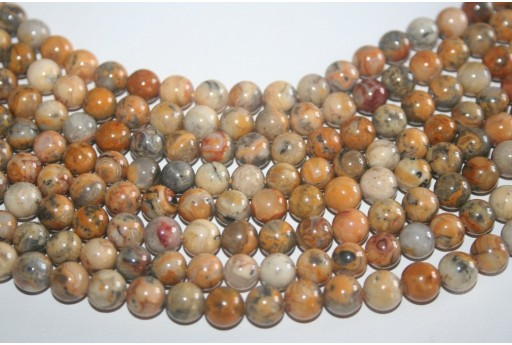 Crazy Lace Agate Beads Sphere 8mm - 48pz