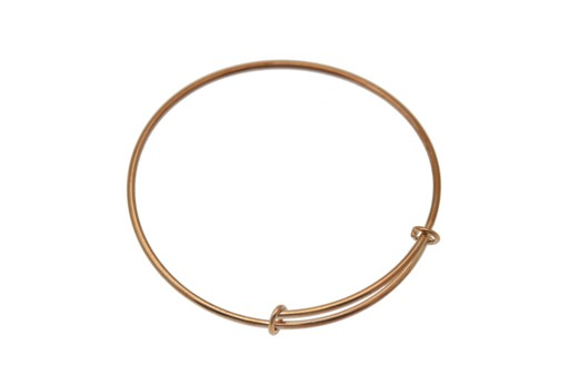 Rose Gold Plated Closed Bracelet 62X1,5mm