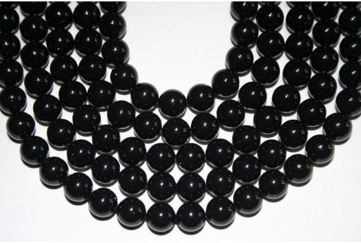 Swarovski Pearls Mystic Black 5810 8mm - 8pcs