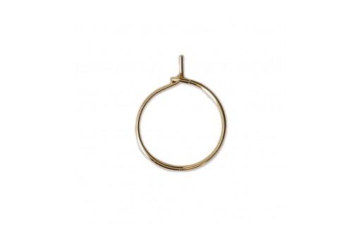nuova alta qualità salvare piuttosto fico Vendita Orecchino Cerchio in Acciaio Oro 30x25x0,8mm | PerlineBijoux
