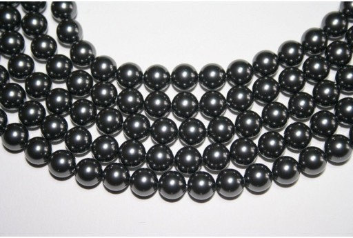 Swarovski Pearls Dark Grey 5810 8mm - 8pcs