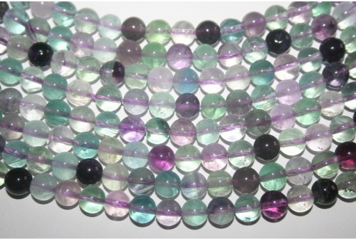 Fluorite Beads Rainbow Sphere 8mm - 48pz
