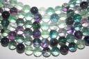 Filo 38 Pietre Fluorite Arcobaleno Sfera 10mm FL7