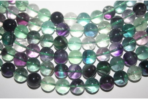 Fluorite Beads Rainbow Sphere 10mm - 3pz