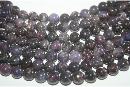 Lepidolite Beads Sphere 10mm - 38pz