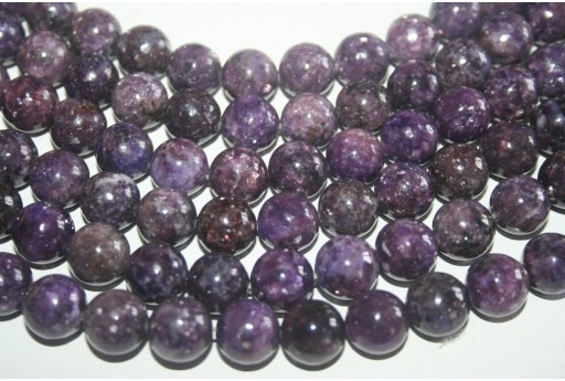 Lepidolite Beads Sphere 12mm - 32pz