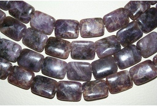 Lepidolite Beads Rectangle 15x20mm - 20pz