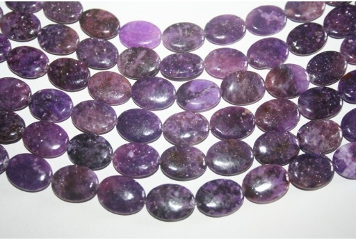 Lepidolite Beads Oval 15x20mm - 20pz