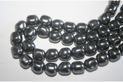 Swarovski Pearls 5840 Dark Grey 10mm - 2pcs
