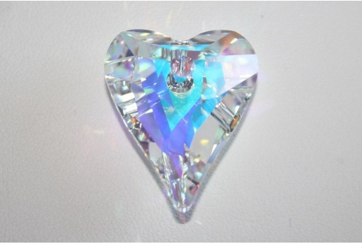 Swarovski Wild Heart Pendant Crystal AB 27mm 6240
