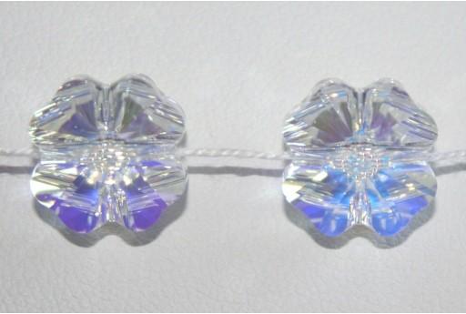 Clover Bead Swarovski Quadrifoglio Crystal AB 12mm 5752