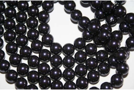 Swarovski Pearls Dark Purple 5810 8mm - 8pcs