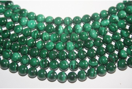 Pietre Malachite Sfera 6mm - 3pz