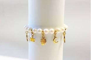 Bracciale Perle Swarovski Pearlescent White